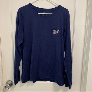 Vineyard Vines long sleeve plaid whale T-shirt